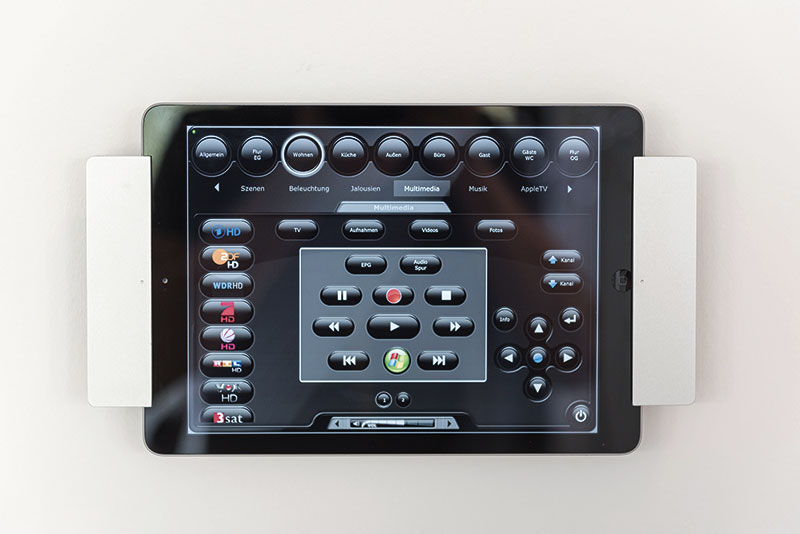 iPad mit Smart-Home-Steuersoftware