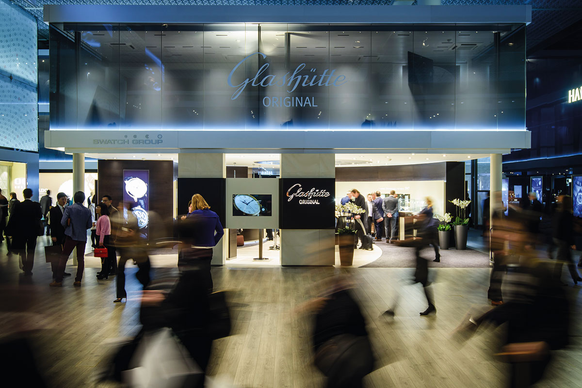 Glashütte_Messestand