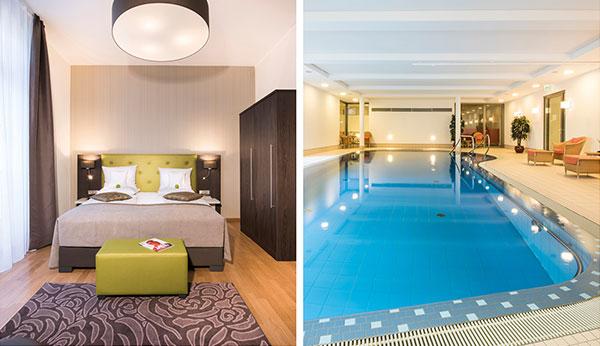 Leoninum Zimmer Deluxe und Schwimmbad