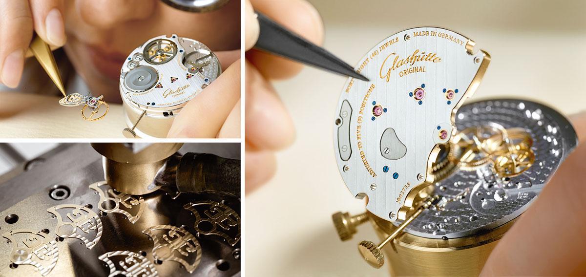 Glashütte Uhrenmontage