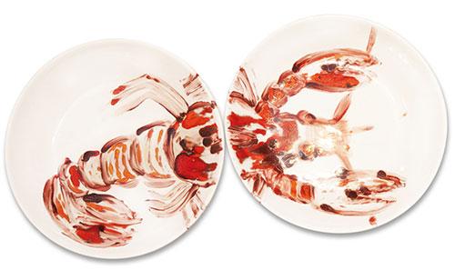jeanett Gebauer handbemalte Teller Lobster