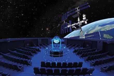 Planetarium-Innenaufnahme