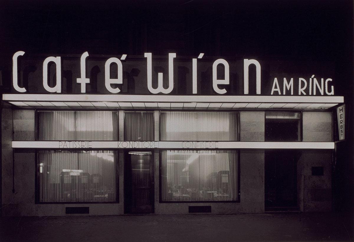 Café Wien in Köln, 1929 Bromsilberdruck, Museum Ludwig, Köln