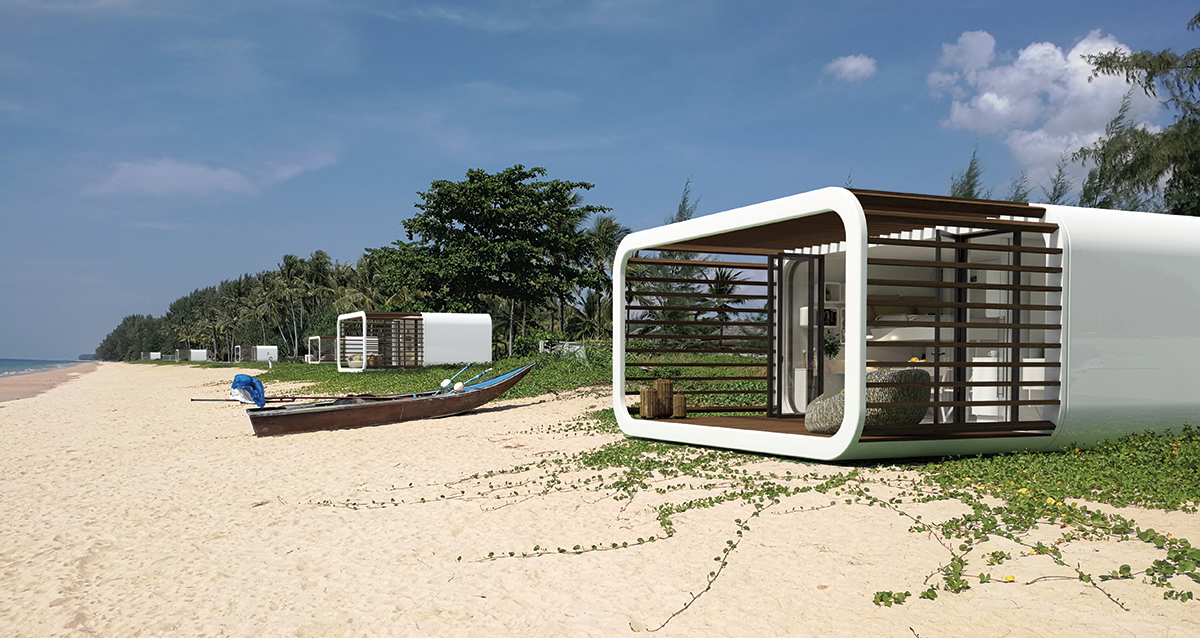 Die LTG Lofts to go GmbH & Co. KG hat mit Coodo eine mobile Unterkunft entwickelt, die überall auf der Welt einen schönen Platz findet.