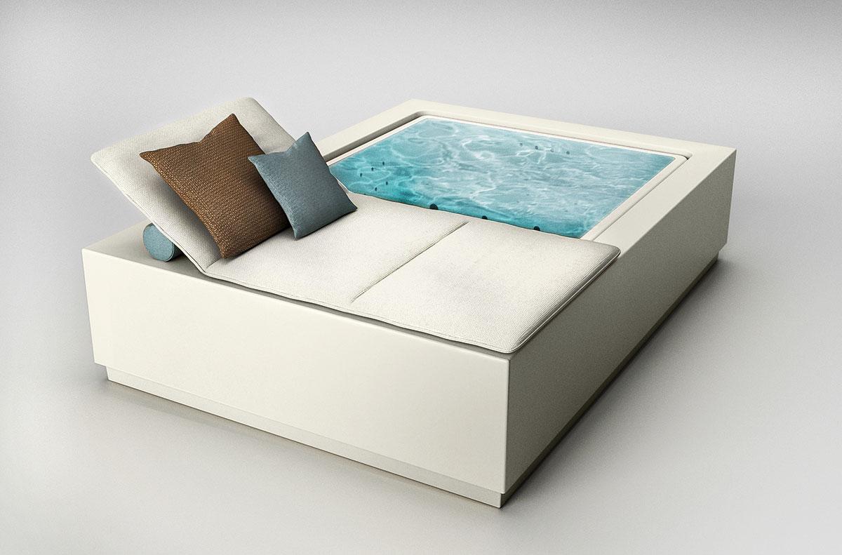 Kos – Mini-Infinity-Pool, Daybed und Solarium in einem