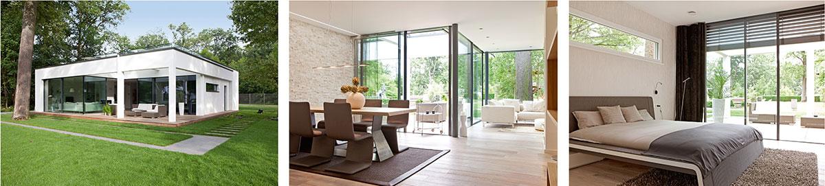 Der neue Winkelbungalow nach dem Konzept ebenLeben in der World of Living präsentiert höchsten Wohnkomfort.