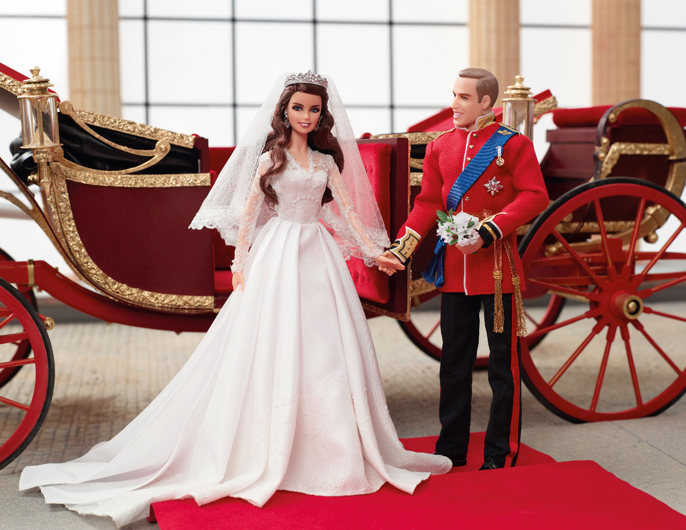 William and Catherine als Barbie beim Royal Wedding