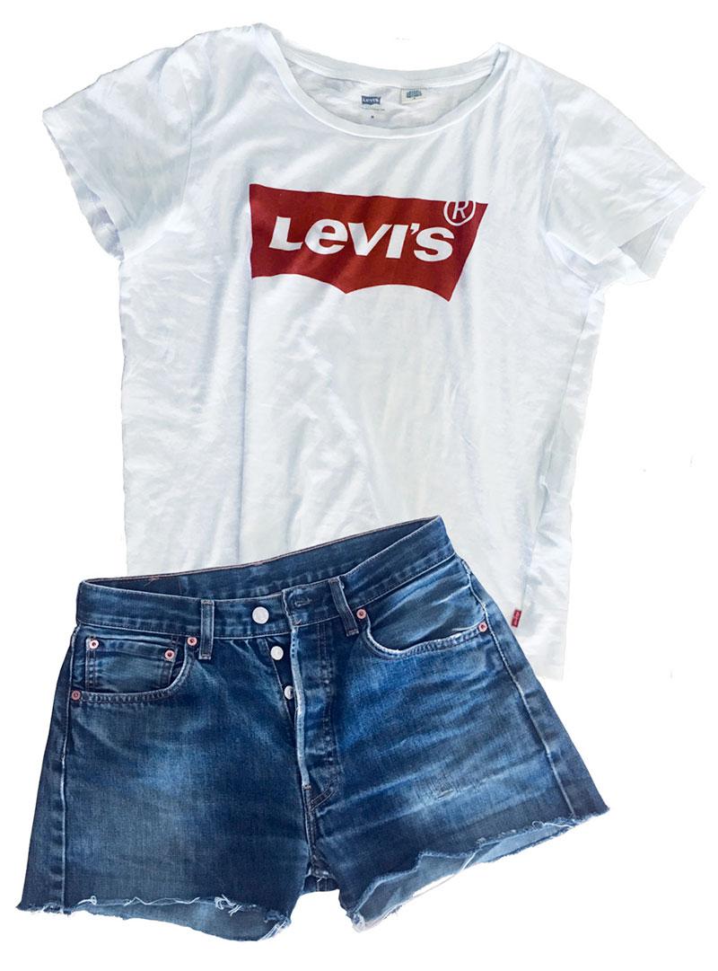 Levi's Produkte T-Shirt und kurze Hose