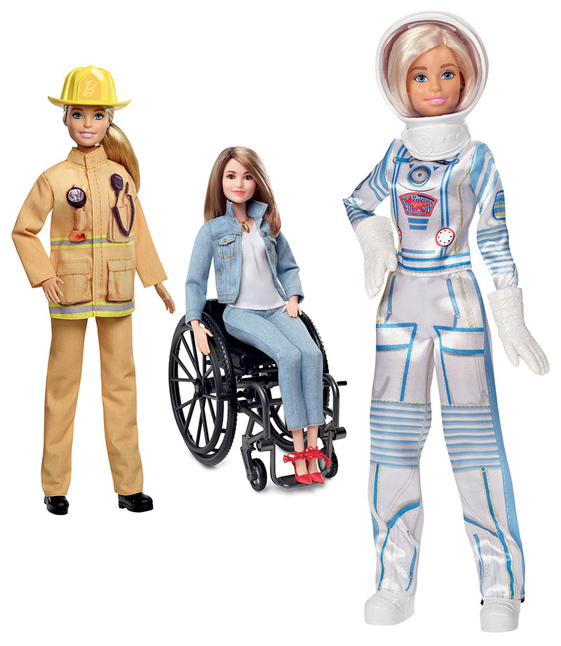 Barbie hat verschiedene Berufe