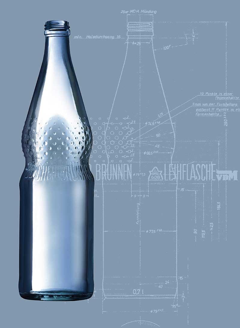 Die Perlenflasche hat genau 230 Perlen, die in 10 Reihen und unterschiedlichen Größen angebracht sind.