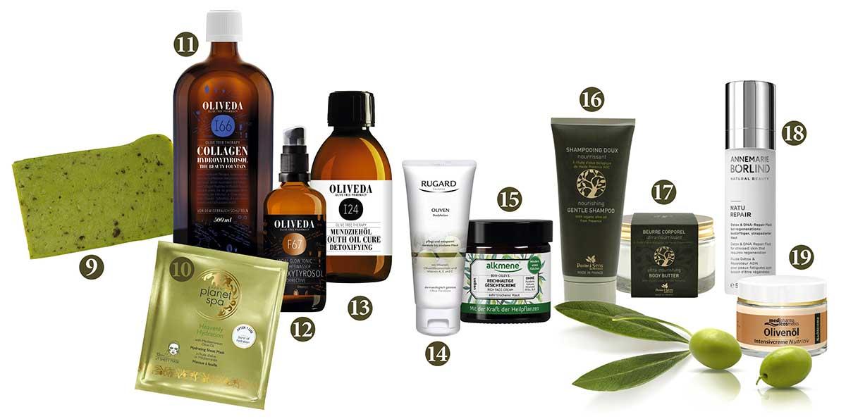 Kosmetik aus Oliven