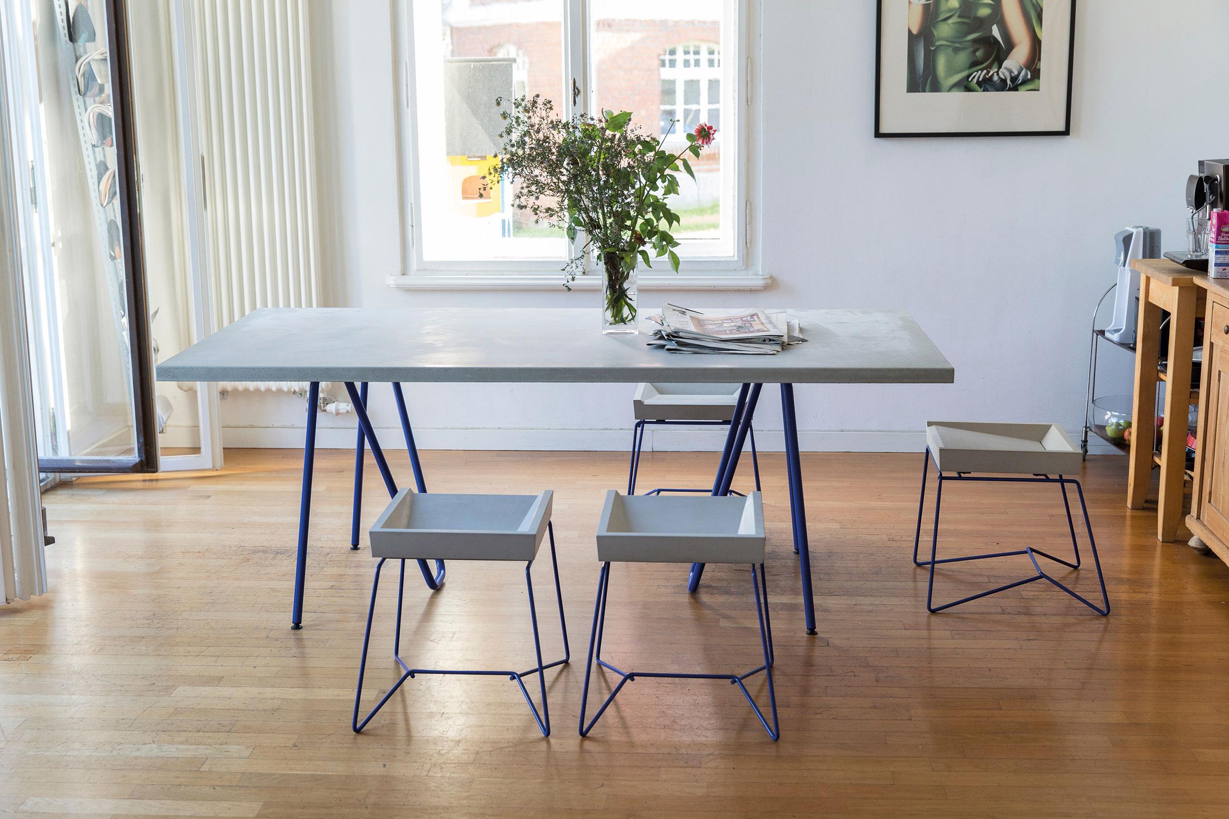 Betonmöbel, betoniu stuhl