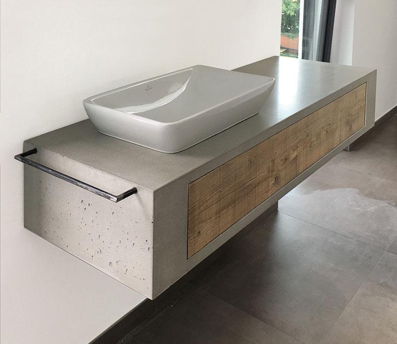 Betonmöbel, Waschbecken aus Beton