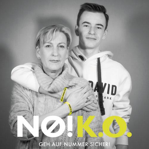 ko tropfen kampagne Petra Spinath und ihr Sohn Manuel