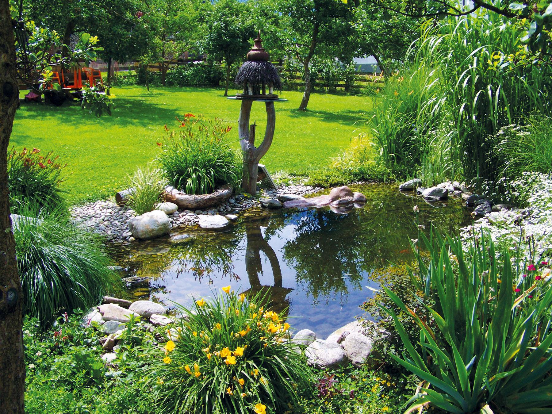 Brunnen Teich im Garten
