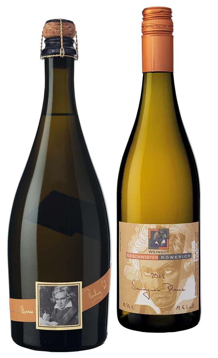 Rieslingsekt und Sauvignon blanc vom Weingut Geschwister Köwerich