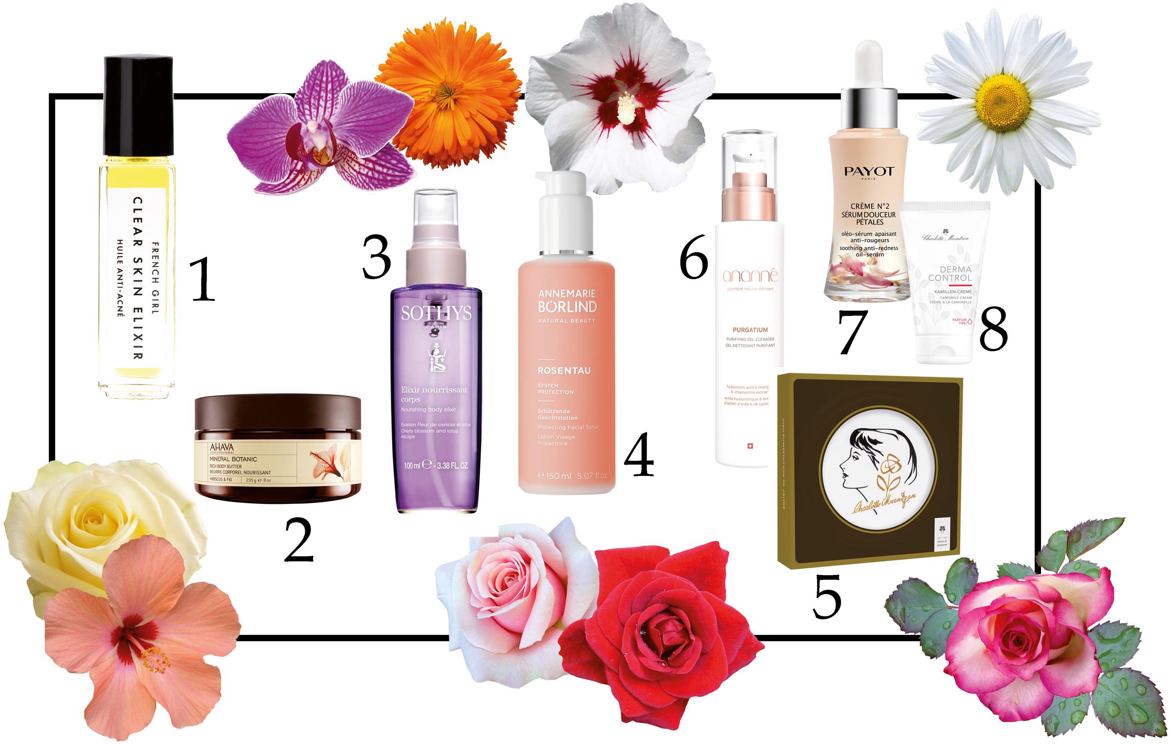 Blüten in Kosmetik
