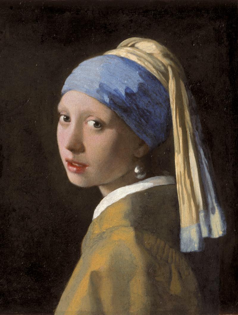 © Johannes Vermeer, Girl with a Pearl Earring, 1665 Das Bild ist Teil der Sammlung des Mauritshuis, Den Haag.
