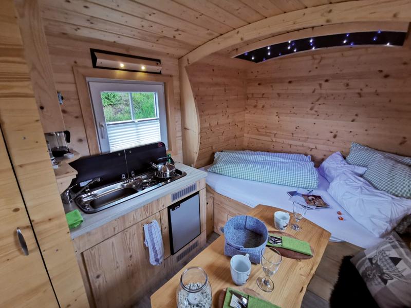 außergewöhnliche Übernachtung Dickel Camping Schäferwagen