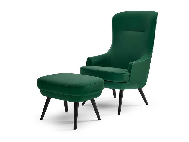 Sessel mit Hocker Walter Knoll